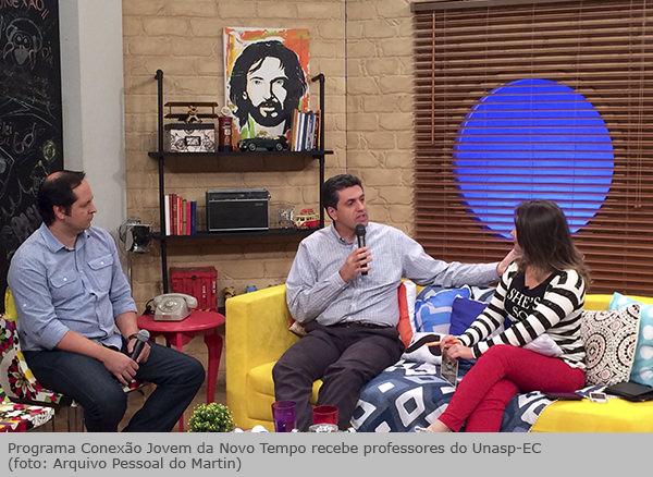 74548a3bf1 Professores de Comunicação participam de programa na TV Novo Tempo ...