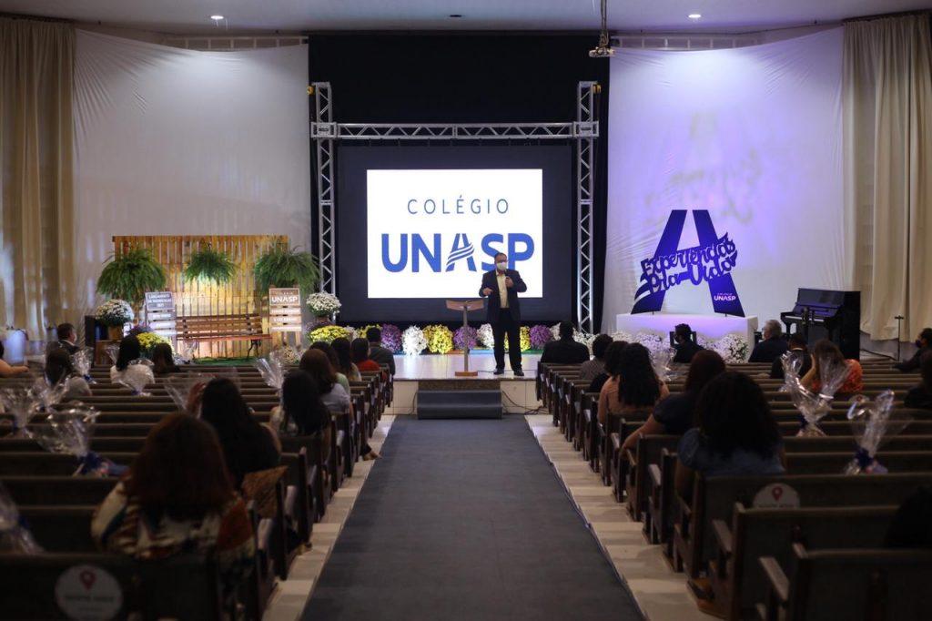 Evento de lançamento de matrículas 2021 do Unasp HT, no auditório Arlete Afonso.