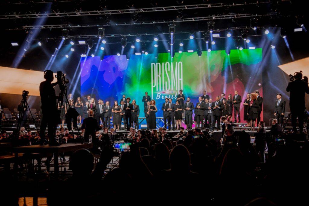 Imagem do palco do programa Prisma 40 anos