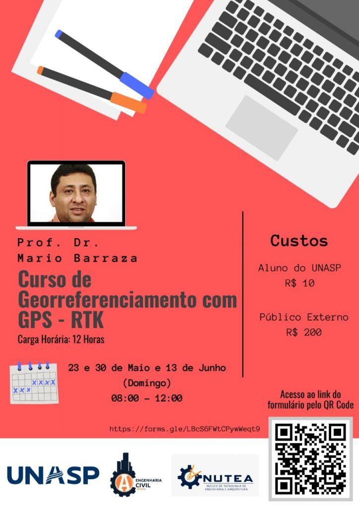 Cartaz da oficina de extensão sobre Georreferenciamento com GPS