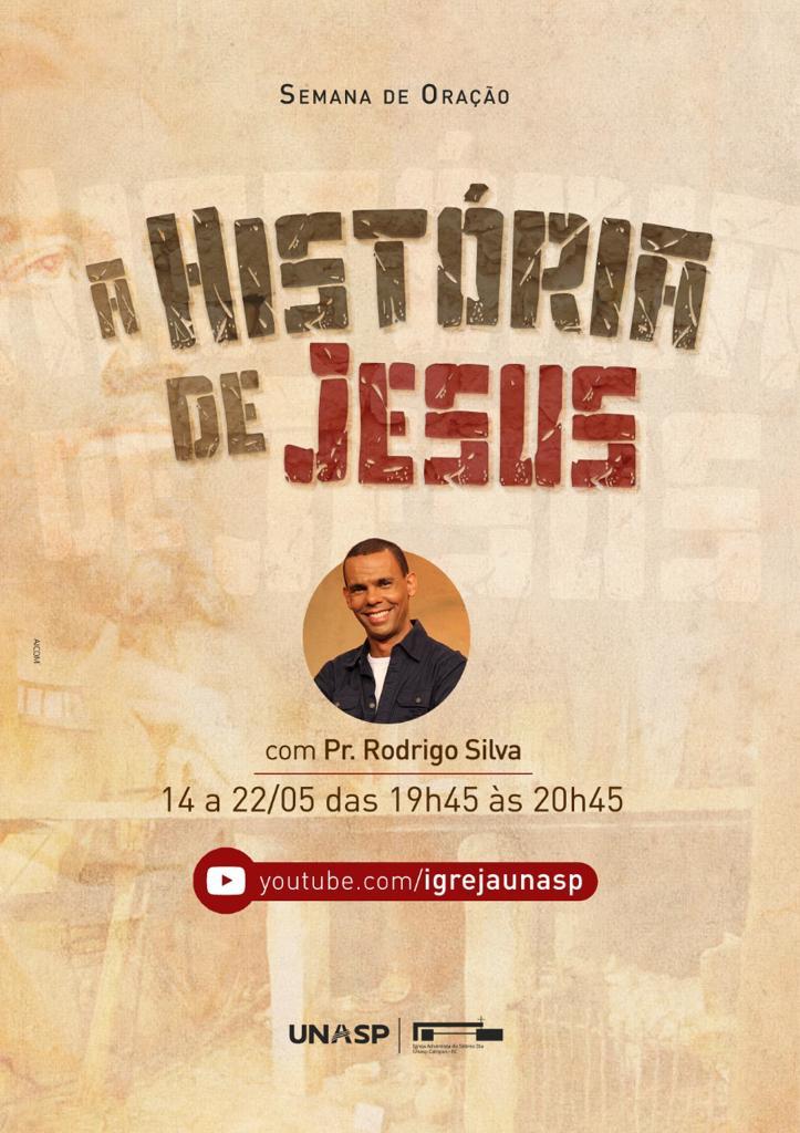 Cartaz da semana de oração com o Pr. Rodrigo Silva