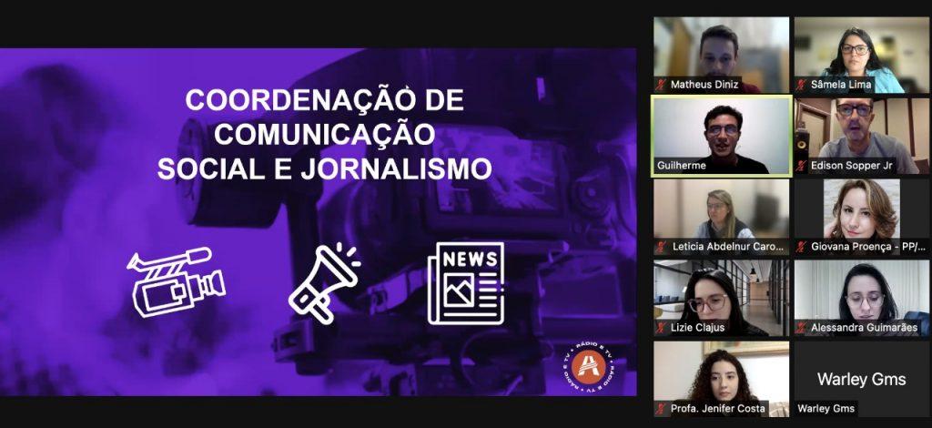 Aula Magna da Coordenação de Comunicação Social e Jornalismo